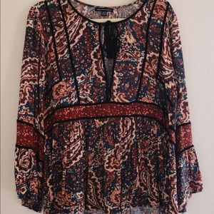 American Eagle Printed Blouse